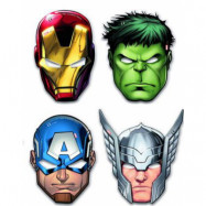 6 stk Marvel Avengers Pappmasker