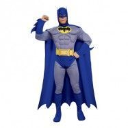 Batman Brave and Bold med Muskler Maskeraddräkt - Small