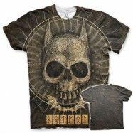 Batman Gothic Skull Allover T-Shirt, Modern Fit Polyester Tee