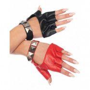 Harley Quinn-inspirerade Handskar med Nitar