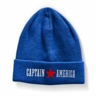 Captain America Beanie, Knitted Beanie