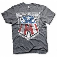Captain America Distressed A T-Shirt, Basic Tee