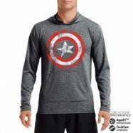 Captain America Distressed Shield Performance Hoodie, CORE PERFORMANCE HOODIE