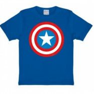 Marvel Captain America Sköld T-Shirt Barn Blå