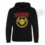 Captain Marvel Distressed Logo Epic Hoodie, Epic Hooded Pullover