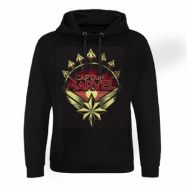 Captain Marvel Distressed Shield Epic Hoodie, Epic Hooded Pullover