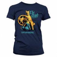 Captain Marvel - Fly High Girly Tee, Girly Tee