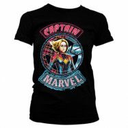 Captain Marvel Patch Girly Tee, Girly Tee