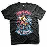 Captain Marvel Patch T-Shirt, Basic Tee