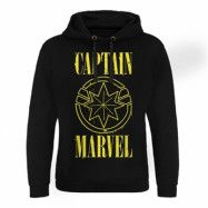 Captain Marvel Yellow Grunge Logo Epic Hoodie, Epic Hooded Pullover