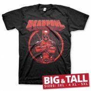 Deadpool Pose Big & Tall T-Shirt, Big & Tall T-Shirt