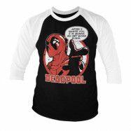 Deadpool - Sushi Baseball 3/4 Sleeve Tee, Baseball 3/4 Sleeve Tee