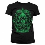 Arrow - Emerald Archer Girly T-Shirt, Girly T-Shirt