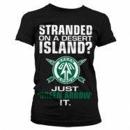 Arrow - Just Green Arrow It Girly T-Shirt, Girly Tee