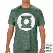 Green Lantern Logo Performance Mens Tee, CORE PERFORMANCE MENS TEE