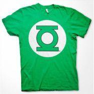 Green Lantern Logo T-Shirt Grön, LARGE