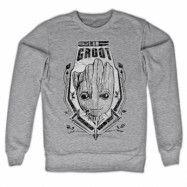 The Groot Distressed Shield Sweatshirt, Sweatshirt