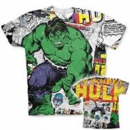 The Hulk Comic Allover T-Shirt, Modern Fit Polyester Tee