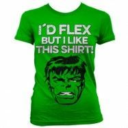 The Hulk - I´d Flex Girly T-Shirt, Girly Tee
