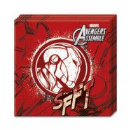 20 stk Iron Man Servietter 33x33 cm - Marvel Avengers Assemble