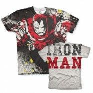 Iron Man Allover T-Shirt, Modern Fit Polyester Tee