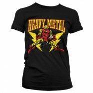 Iron Man Likes Heavy Metal Girly T-Shirt, Girly T-Shirt