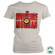 The Invincible Ironman Bold Organic Girly Tee, 100% Organic Girly Tee