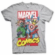 Marvel Comics Heroes T-Shirt Grå