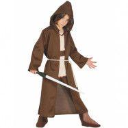 Star Wars Inspirerad Jedi Kostymkappa till Barn med Huva och Bälte