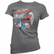 Distressed Spider-Man Girly T-Shirt, Girly T-Shirt