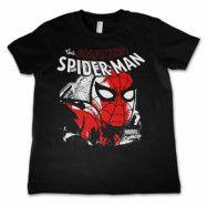 Spider-Man Close Up Kids T-Shirt, Kids T-Shirt