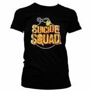 Suicide Squad Bomb Logo Girly Tee, Girly Tee