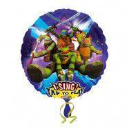 Sjungande Folieballong Ninja Turtles