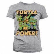 TMNT - Turtle Power! Girly T-Shirt, Girly T-Shirt