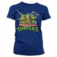 Turtles Distressed Group Girly T-shirt, Girly T-Shirt
