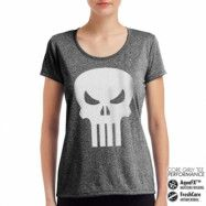 Marvel Comics - The Punisher Skull Performance Girly Tee, CORE PERFORMANCE GIRLY TEE