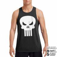 Marvel Comics - The Punisher Skull Performance Singlet, CORE PERFORMANCE MENS SINGLET