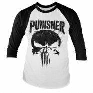 Marvel's The Punisher Big Skull Baseball Long Sleeve Tee, Baseball Long Sleeve Tee