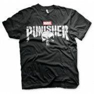 Marvel's The Punisher Distressed Logo T-Shirt, Basic Tee