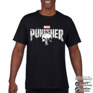 The Punisher Distressed Logo Performance Mens T-Shirt, CORE PERFORMANCE MENS TEE