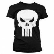 The Punisher Skull Girly T-Shirt, Girly Tee