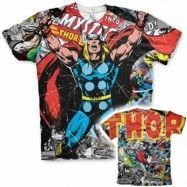 Thor Comics Allover T-Shirt, Modern Fit Polyester Tee