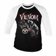 Marvel Comics - Venom Baseball 3/4 Sleeve Tee, Baseball 3/4 Sleeve Tee