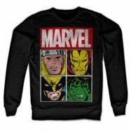 Marvel Distressed Characters Sweatshirt, Sweatshirt