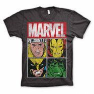 Marvel Distressed Characters T-Shirt Mörkgrå