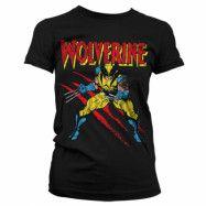 Wolverine Scratches Girly T-Shirt Svart