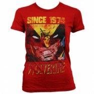 Wolverine Since 1974 Girly T-Shirt, Girly T-Shirt