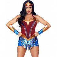 Wonder Woman Inspirerad Dräkt 3 Delar