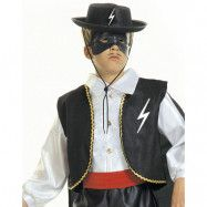Svart Zorro-hatt till barn